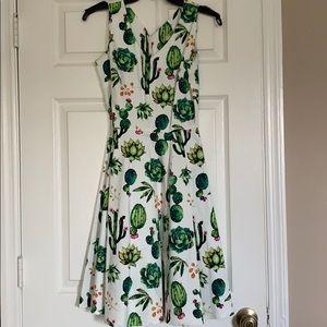Unique Vintage Cactus Dress